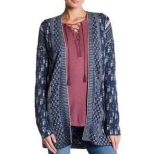 Lucky Brand Blue Patterned Cardigan